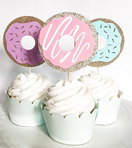 Donut Cupcake Toppers 12 ct