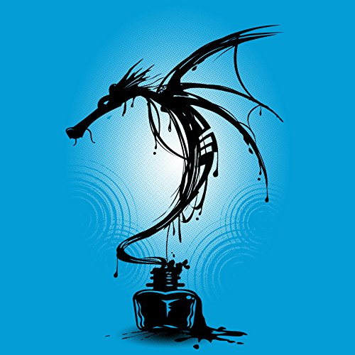 Ink Dragon Women's 2X-Large Turquoise Stone Graphic T Shirt - Design By Humans