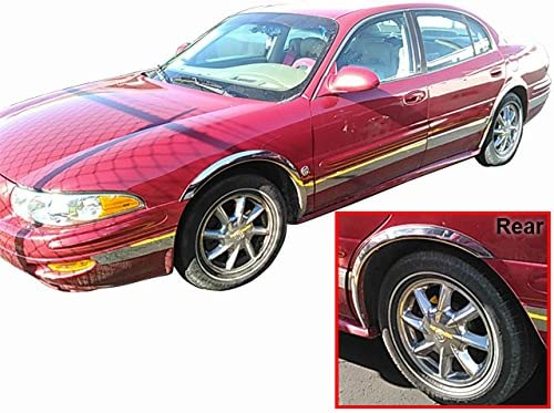 WZ40565 4 Pc: Stainless Steel Fender Trim - Clip on or screw in, hardware included - 2.375 wide, 4-door QAA FITS LESABRE 2000-2005 BUICK