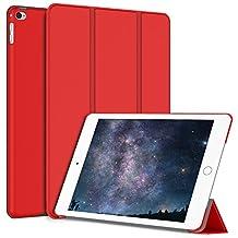 iPad Mini 4 Case, JETech Gold Serial Apple iPad Mini 4 Slim-Fit Folio Smart Case Cover with Auto Sleep/Wake for Apple New iPad Mini 4 Released on 2015 (Red) - 3286