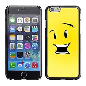 "For Apple Iphone 6 Plus / 6S Plus ( 5.5 ) , S-type Feliz Divertido Smiley"" - Arte & diseño plástico duro Fundas Cover Cubre Hard Case Cover"