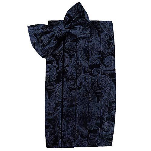 (Men's Tapestry Cummerbund & Bow Tie Set - Many Colors (Midnight Blue))