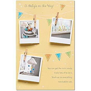 american greetings wonder and love new baby congratulations card with glitter