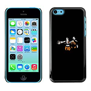 CASEX Cases / Apple Iphone 5C / Hl Gaming - Half L1Fe # / Delgado Negro Plástico caso cubierta Shell Armor Funda Case Cover Slim Armor Defender