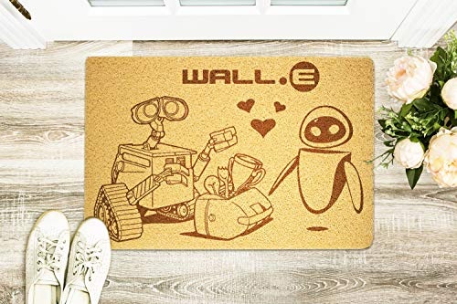 WALL-E Animated Science Fiction Film Size 24x16 inch Rubber Welcome Doormat Indoor Outdoor Floor Mat For Shoes Doormat Home Nursery Decor Birthday Gift New Year Special Gift For Kids Her Him Son -