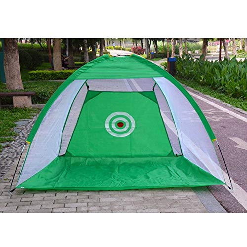 Golf Practice Net Cage, Indoor/Outdoor Golf Training Aids Portable Foldable Golf Hitting Cage Garden Grassland Golf Practice Net