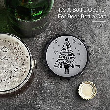 Abrebotellas de silueta de Walking Dead, imán trasero para nevera, forma creativa de tapa de botella, fácil de abrir el esfuerzo de botella.