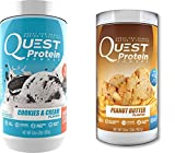 Quest Nutrition Quest Protein yNHOLD Powder, Cookies and Cream/Peanut Butter 2lb Tub (1 of Each)