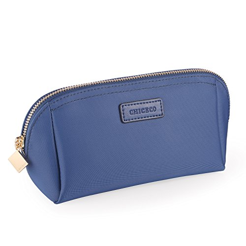 (CHICECO Handy Cosmetic Pouch Clutch Makeup Bag - Light Navy)