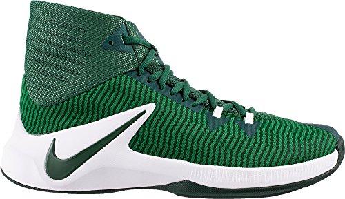 Nike Mens Zoom Clear Out Basketbalschoenen (groen / Wit, 11)