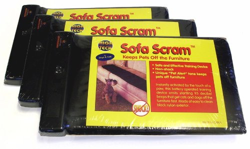 High Tech Pet Sofa Scram Sonic Pad Pet Deterrent, 3-Pack