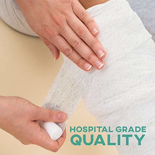 6-Pack Sterile Gauze Medical Bandage Wrap Rolls - 100% Cushioned Cotton - Latex Free - FDA Approved - Hospital Grade Quality – Super Absorbent & Resistant - For Primary or Secondary Dressing – 4-Yard by FlexTrek (Image #2)