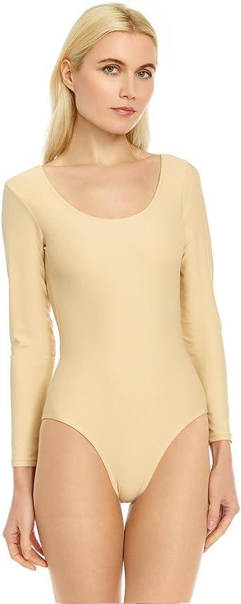 Leveret Womens Leotard Basic Long Sleeve Ballet Dance Leotard Variety of Colors Size XSmall-XLarge