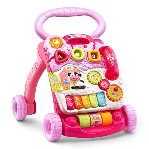 51eFdi%2BGP9L - VTech Sit-to-Stand Learning Walker Amazon Exclusive, Pink