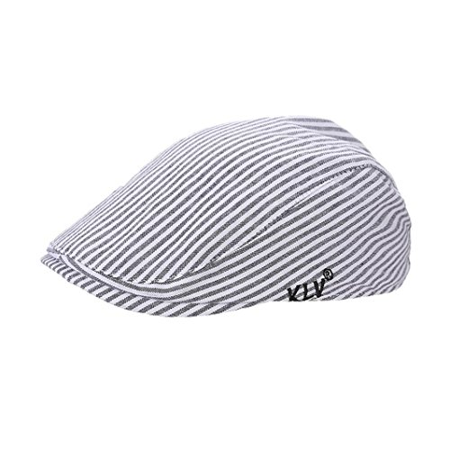 Aniywn Hot Sale! New British Style Fashion Kids Boy Girls Striated Beret Cap Cabbie Casquette Flat Peaked Hat (Baby, - Red Fox Fur Dyed
