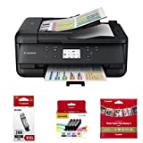 Canon PIXMA TR7520 Wireless Home Office All-In-One Printer with PGI-280XXL, CLI-281 4 Pack and Square Paper (5x5)