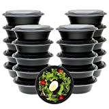 [5 Pack] Freshware Meal Prep Containers with Lids - Stackable, Reusable, Microwave, Dishwasher