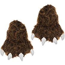 Wishpets Grizzly Bear Paw Slippers, Multiple Sizes