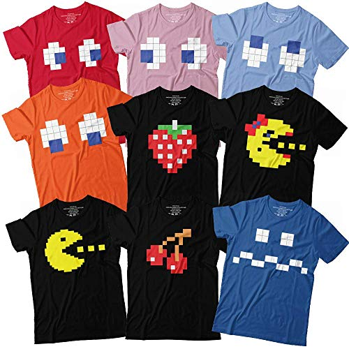Ghosts Man Characters 8 Bit Costume Gaming Halloween Group Matching Customized Handmade T-Shirt Hoodie/Long Sleeve/Tank Top/Sweatshirt]()