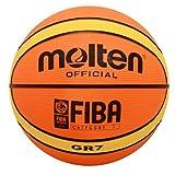 Molten Premium Rubber Basketball (Orange/Yellow, Official/Size 7)