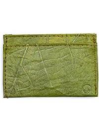 Leaf Leather Slim Wallet - Minimalist Ultra Thin Handmade Card and Cash Holder