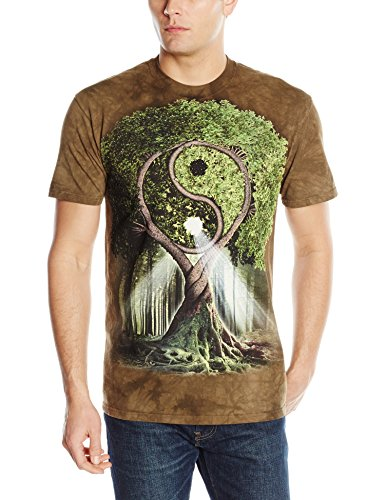 The Mountain Mens Yin Yang Tree Adult T-Shirt