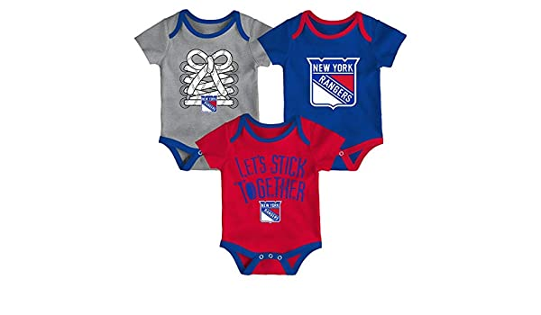 Amazon.com   Outerstuff New York Rangers NHL Five on Three Infant 3 Pack  Bodysuit Creeper Set   Sports   Outdoors 6ae2bd420