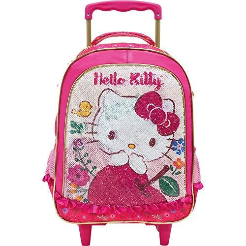 Mala Escolar com Rodinhas 16, Hello Kitty, 8790, Rosa
