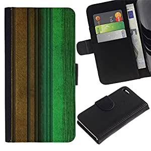 iKiki Tech / Cartera Funda Carcasa - Calm Pastel Green Brown Teal - Apple iPhone 4 / 4S