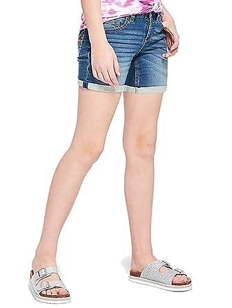 957d5ad1ca Amazon.com: Justice Shorts Mid Thigh Roll Cuff Denim (6 Slim): Clothing