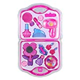 Image of Make up Toy Pretend Play Girls Toys Set with Mirror Hairdryer and Styling Accessories Pink for Kids Children Christmas Birthday Gift