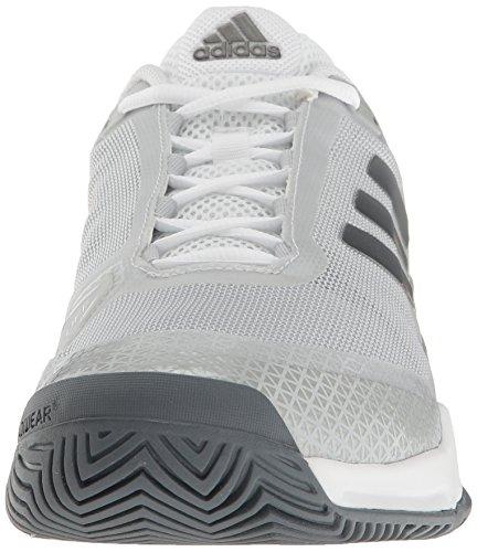 Adidas Heren Barricade Club Tennisschoen, Wit / Zwart / Grijs, 4.5 M Ons Nacht / Wit / Zwart