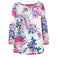 Joules Harbour Print Jersey Top Cream Floral 8