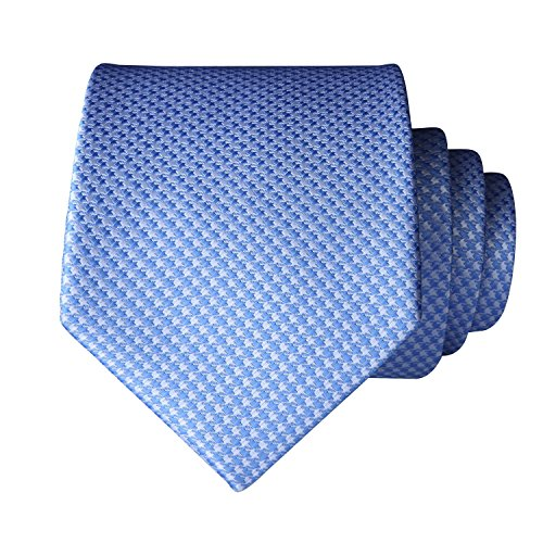Blue Set Pocket Men's amp; Party Tie Handkerchief Wedding HISDERN Houndstooth Light Square Necktie 7qvnwf