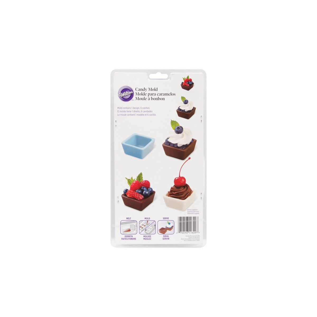 Amazon.com: Wilton 2115-0009 Square Cup Candy Mold: Candy Making Molds: Kitchen & Dining