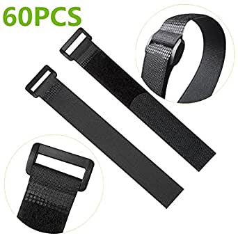60pcs 20 cm reutilizable Fastening correa de cable, nailon corbata ...