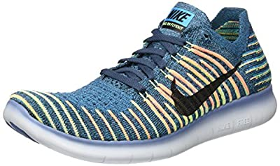 Nike Men's Free RN Flyknit, SQUADRON BLUE/BLACK, 11.5 M US