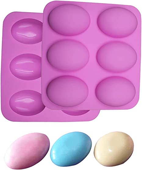 Muffin Brownie TOOTO Glossy Silicone Mold for Soap Cupcake Bread Cake 6 Cavity Oval Shaped and More Cornbread Cheesecake