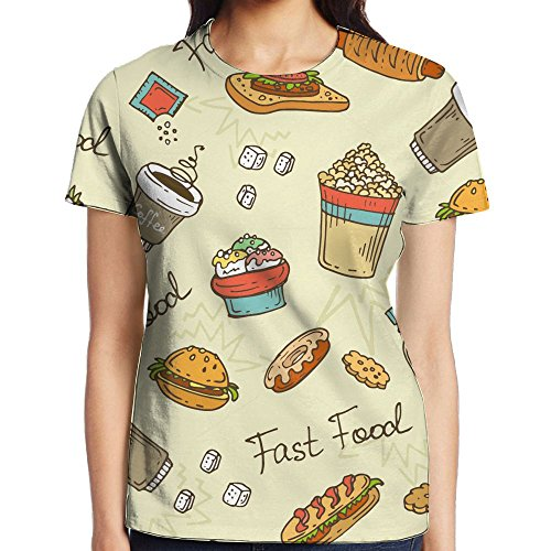 Cute Food Full 3D Sublimation T-Shirt Full 3D For Gal Online Shopping Sublimated 3D Full Print T-Shirt Tee Tee Shirts Popular XXL