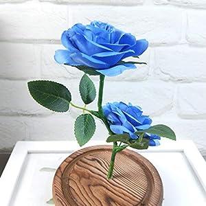 Longay Romantic Glass Rose Wedding Decoration Home Furnishing Holiday Gifts (Blue) 2