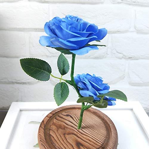 Longay-Romantic-Glass-Rose-Wedding-Decoration-Home-Furnishing-Holiday-Gifts-Blue