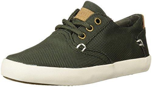 SPERRY Boys' Bodie Sneaker, Olive, 11 Medium US Little Kid (Shoes Kids Olive Green)