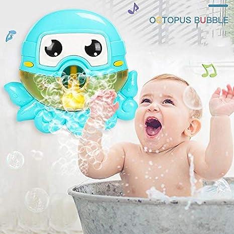 Jouets Interactifs De Baignoire pour B/éb/é avec Kid Songs Bain /à Bulles Automatique Octopus avec Musique pour Les Filles Gar/çons Foonee Machine De Bulle De Baignoire pour Tout-Petit