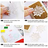 4 Sheets Words Clear Stamp Silicone Stamp Cards