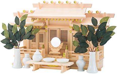 """Japonais Home sanctuaire """"kamidana yanechigai Kaiun type shinden-set fabriqué de Hinoki (Import Japon)"""