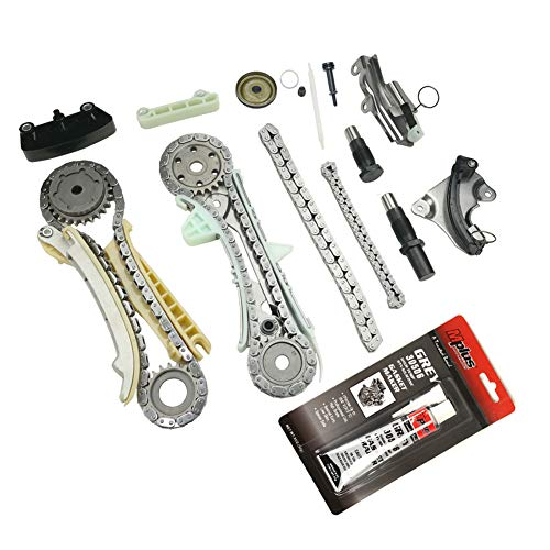 MOCA Timing Chain Kit for 05-10 Ford Mustang & 97-10 Ford Explorer & 98-10 Mercury Mountaineer & 01-08 Mazda B4000 4.0L V6 SOHC 12 Valve ()