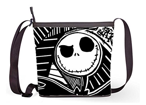 Popular Lady Women Shouder Bag Cross Body Bag Soulder Bag with Jack Skellington Print.