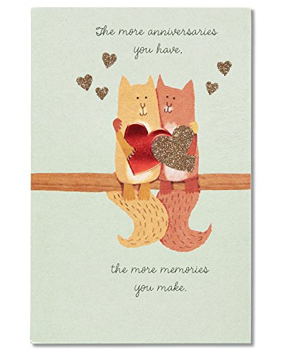 American Greetings Cat Anniversary Card with Glitter (5760156)