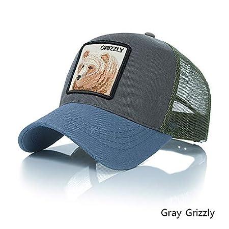 YSYNCAP Cappellino Berretto da Baseball Snapback Hat for Men Summer Mesh Baseball Ricamo Animale Hip Hop cap Casquette Boys Bone