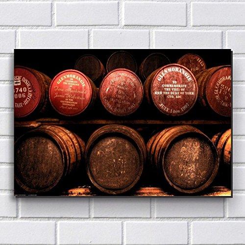 Placa Decorativa em MDF com 20x30cm - Modelo P313 - Barril de Whisky